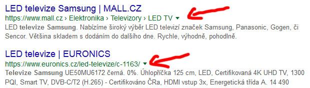 Použít klasickou URL nebo drobečkovou navigaci?