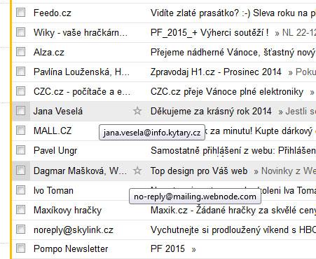 Někteří posílají newslettery pod svým jménem. Neschovávají se za firmu.